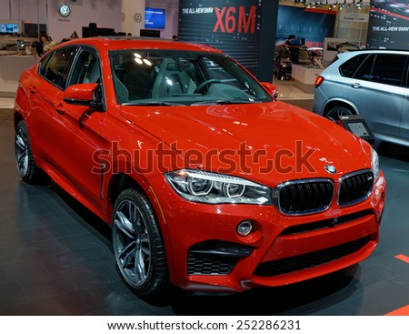 TORONTO-FEBRUARY 12: at the 2015 Canadian International Auto Show  BMW XM6 is marketed as a Sports Activity Coup�© combining the attributes of an SUV with the stance of a coup�© .