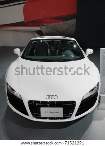 TORONTO-FEBRUARY 17: Audi R8 Spyder displayed at the 2011 Canadian International Auto Show on February 17, 2011 in Toronto