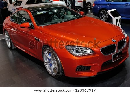 TORONTO-FEBRUARY 14: BMW M6 Coupe at the 2013 Canadian International Auto Show on February 14, 2013 in Toronto