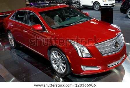 TORONTO-FEBRUARY 14: Cadillac XTS at the 2013 Canadian International Auto Show on February 14, 2013 in Toronto