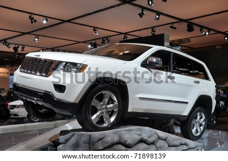 TORONTO - FEBRUARY 24: Chrysler Jeep Grand Cherokee displayed at the 2011 Canadian International Auto Show on February 24, 2011 in Toronto, Ontario in Canada