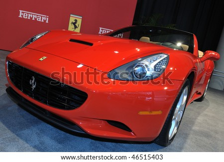 TORONTO - FEBRUARY 11: Ferrari California at the 2010 Canadian International Auto Show on February 11, 2010 in Toronto