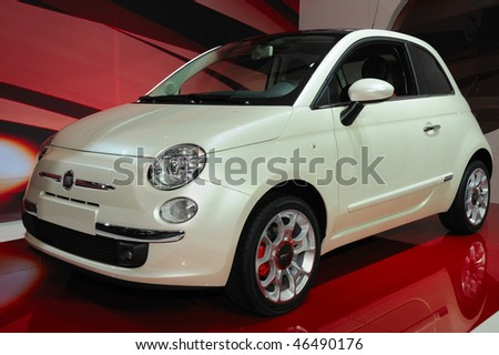 TORONTO-FEBRUARY 11: FIAT 500 at the 2010 Canadian International Auto Show on February 11, 2010 in Toronto