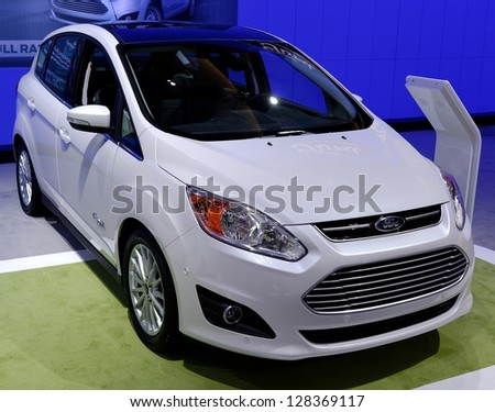 TORONTO-FEBRUARY 14: Ford Cmax ENERGY at the 2013 Canadian International Auto Show on February 14, 2013 in Toronto