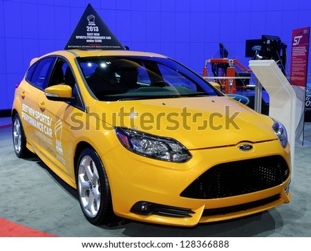 TORONTO-FEBRUARY 14: Ford Focus ST at the 2013 Canadian International Auto Show on February 14, 2013 in Toronto