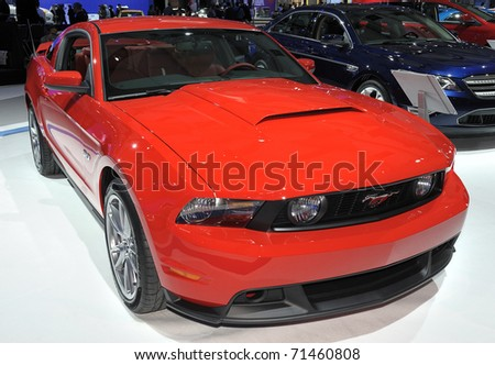 TORONTO-FEBRUARY 17: Ford Mustang GT Coupe displayed at the 2011 Canadian International Auto Show on February 17, 2011 in Toronto