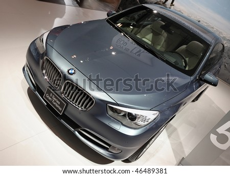 TORONTO - FEBRUARY 11: New BMW 5 Series is shown at the 2010 Canadian International Auto Show on February 11, 2010 in Toronto.