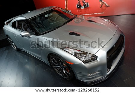 TORONTO-FEBRUARY 14: Nissan GTR at the 2013 Canadian International Auto Show on February 14, 2013 in Toronto