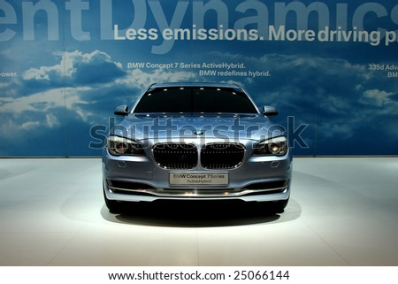TORONTO, FEBRUARY 11: the BMW 7 Series Active Hybrid unveiled at the Canadian International AutoShow 2009, one of 6 concept cars unveiled at CIAS2009