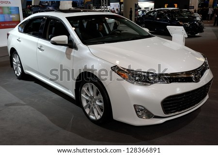 TORONTO-FEBRUARY 14: Toyota Avalon Limited at the 2013 Canadian International Auto Show on February 14, 2013 in Toronto