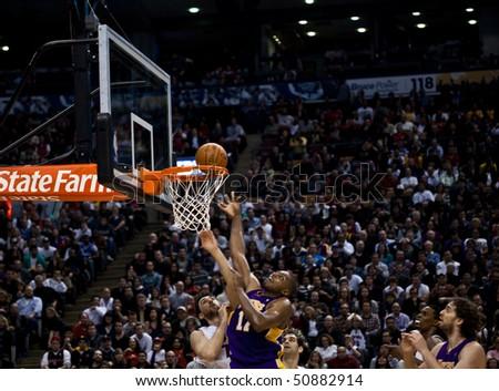 ball at the NBA basketball