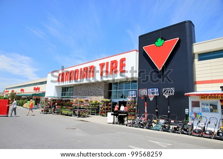 TORONTO - JUNE 19: A Canadian Tire location on June 19, 2011 in Toronto. Canadian Tire Corporation, Limited is one of Canada's 60 largest publicly traded companies.