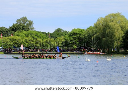 TORONTO – JUNE 26: 23rd Annual Toronto International Dragon Boat Race Festival -  in June 26 2011 on Central Island, Toronto