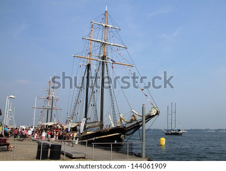 TORONTO -Â?Â? JUNE 22: Sailing ship at RedPath Waterfront Festival  - tall ships - in June 22, 2013 in Toronto, Canada