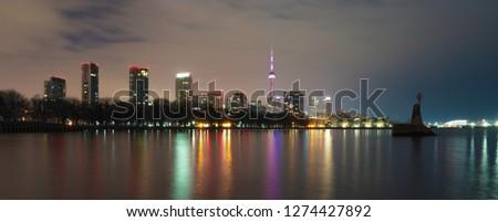toronto night city #1274427892