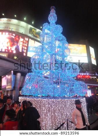 TORONTO - NOVEMBER 19: Illuminite, a Winter Magic Holiday event,  on November 19, 2011 at Yonge-Dundas Square in Toronto, Canada