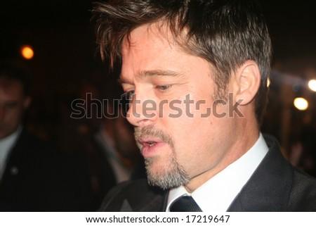 Toronto, On,Canada, September 5:actor Brad Pitt on the red carpet at the Toronto International Film Festival on september 5, 2008
