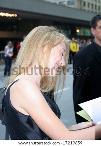 Toronto, On,Canada, September 5:actor Dakota Fanning on the red carpet at the Toronto International Film Festival on september 5, 2008