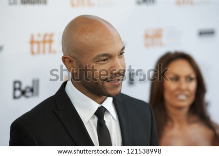 "TORONTO, ON/CANADA - SEPTEMBER 10, 2011:  Actor Stephen Bishop poses for pictures at the Toronto International Film Festival on his way to the screening of ""Moneyball"" on September 10, 2011 in Toronto"