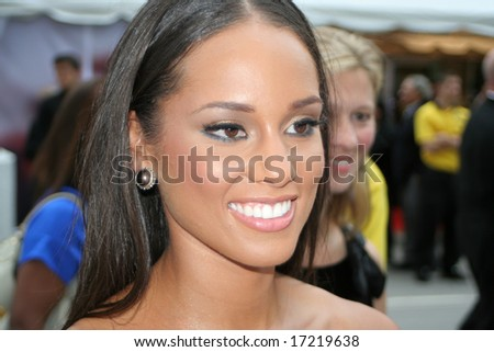 Toronto, On,Canada, September 5:singer and actor Alicia Keys at the red carpet signing fan's autographs at the Toronto International Film Festival on september 5, 2008