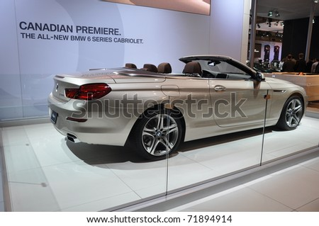 TORONTO, ON - FEB 24: Canadian Premiere of the BMW 6 Series Cabriolet at the International Canadian Auto Show on February 24, 2011 in Toronto, Ontario in Canada
