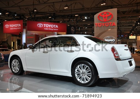 TORONTO, ON - FEB 24: Chrysler 300 at the International Canadian Auto Show on February 24, 2011 in Toronto, Ontario in Canada - stock photo