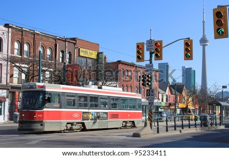 TORONTO, ON, February 9:Chinatown. The TTC operates the third most heavily used urban mass transit system in North America the largest in Canada,  February, 9, 2012 in Toronto Ontario, Canada - stock photo