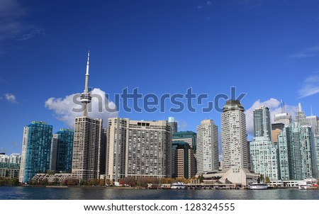 TORONTO,ON - OCT 20: Downtown Toronto Modern Architecture on October 20, 2010 in Downtown Toronto, Canada. Downtown Toronto has prominent buildings in a variety of styles by many famous architects.