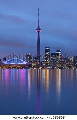 Toronto, Ontario, Canada - at night