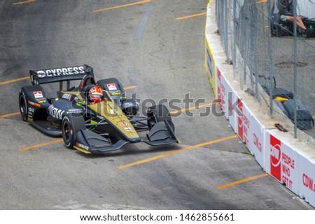 Toronto, Ontario, Canada - July 12 2019: James Hinchcliffe (5) -  2019 Honda Toronto Indy #1462855661