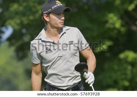 TORONTO, ONTARIO - JULY 21: Colombia-born golfer Camilo Villegas follows his tee shot during a pro-am event at the RBC Canadian Open golf on July 21, 2010 in Toronto, Ontario.
