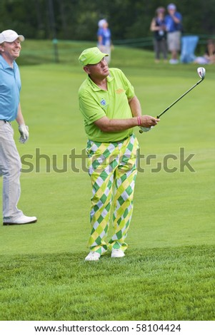 TORONTO, ONTARIO - JULY 21: US golfer John Daly during a pro-am event at the RBC Canadian Open golf, St. George's; Golf and Country Club July 21, 2010 in Toronto, Ontario