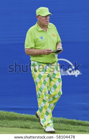 TORONTO, ONTARIO - JULY 21: US golfer John Daly during a pro-am event at the RBC Canadian Open golf, St. George's; Golf and Country Club;  July 21, 2010 in Toronto, Ontario