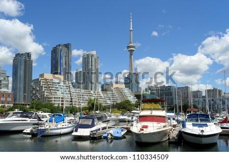 Toronto skyline and marina