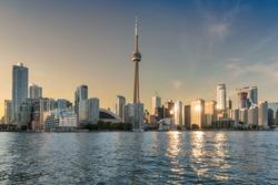 Toronto skyline at sunset - Toronto, Ontario, Canada.