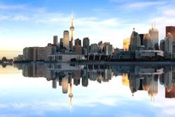 Toronto skyline at the morning, Quebec, Canada