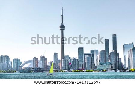 Toronto skyscraper with modern buildings, Canada #1413112697