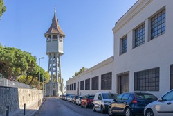 Torre de l'Aigua (Water tower, old water cistern) built in 1918, Modernisme style, Sabadell, Catalonia, Spain