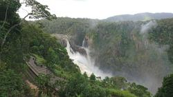 Torrential stream of Barron Falls in Kuranda National Park - Queensland Wet Tropics