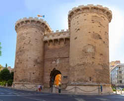 Torres de Quart or Puerta de Quart two fortified gates of the medieval wall of Valencia