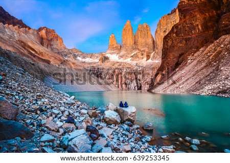 Torres del Paine, National Park - Laguna Torres, famous landmark of Patagonia, Chile