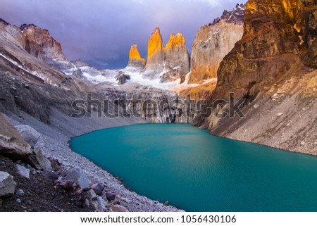 Torres del  Paine National Park, maybe the best sunrise in the world! and without seeing the sun!