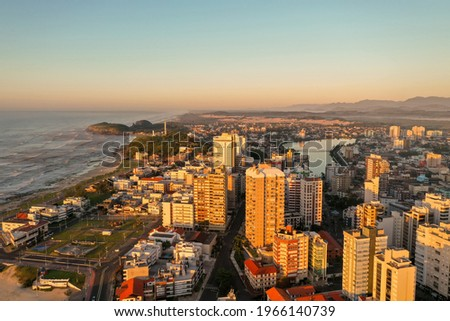 Torres - RS. Panoramic aerial view of the city, Torres beach. Rio Grande do Sul – Brazil Foto stock ©