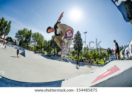 TORRES VEDRAS, PORTUGAL - SEPTEMBER 15: Jorge Simoes at 2nd Stage on DC Skate Challenge by Fuel TV on september 15, 2013 in Torres Vedras, Portugal.
