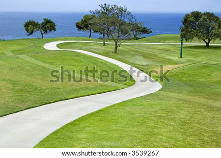 Torrey Pines Golf course in La Jolla, California - stock photo