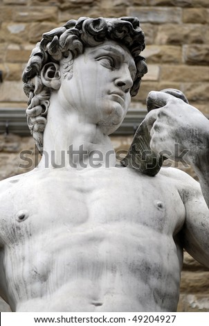Torso of a famous statue by Michelangelo - David from Florence