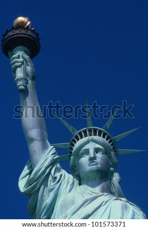 Torso of Statue of Liberty, New York City, New York - stock photo