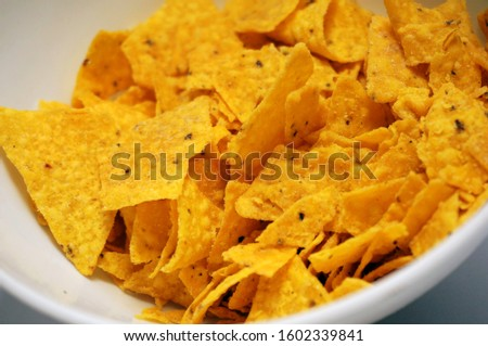 Tortilla chips is a kind of chips or chips made from corn