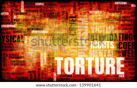 Torture In Interrogation and a Extreme Punishment - stock photo