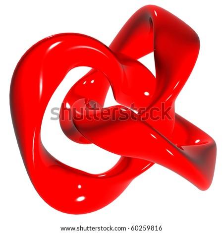 Torus knot - stock photo
